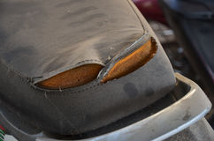 old and dirty Motorcycle seat Stock Photos