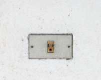 Old dirty outlet Royalty Free Stock Photo