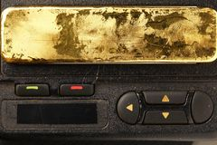 Old and dirty pager scene. Royalty Free Stock Images