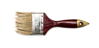 Old dirty paint brush Stock Images