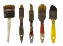 Old dirty paintbrushes Royalty Free Stock Photography