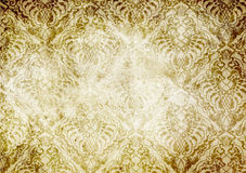 Old dirty paper background with vintage patterns. Royalty Free Stock Image