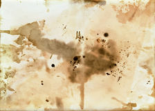 Old dirty paper with blots. Image of the old dirty paper with blots royalty free stock images