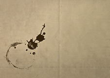 Old dirty paper with grunge stain Royalty Free Stock Photography