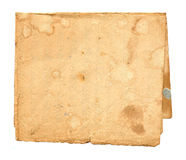 Old dirty paper isolated. On white background Royalty Free Stock Photo