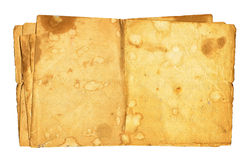 Old Dirty Paper Isolated Stock Image