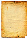 Old dirty paper page stock photography