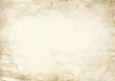Old dirty paper texture. Royalty Free Stock Photo