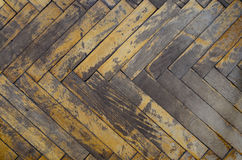 Old dirty parquet Stock Image