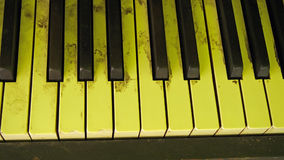 Old and dirty Piano Keys Stock Photography