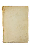 Old and dirty piece of paper. Isolated on white Royalty Free Stock Photo