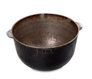 Old dirty pot Royalty Free Stock Image