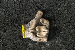 Old dirty protection worker gloves Royalty Free Stock Photo