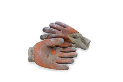 Old Dirty Protective Gloves Stock Photography