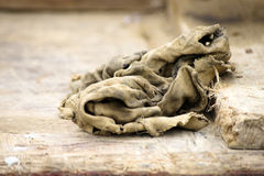 Old dirty rag Royalty Free Stock Images