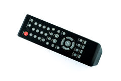 Old dirty remote console isolated Stock Images