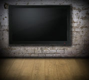 Old room with TV set Stock Photos