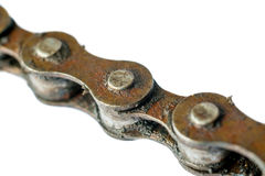 Rusty bicycle chain Stock Photo
