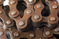 Rusty bicycle chain Royalty Free Stock Photo