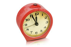 Old dirty scratched clock Royalty Free Stock Image
