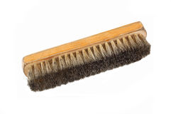 Old and dirty shoe brush Royalty Free Stock Images