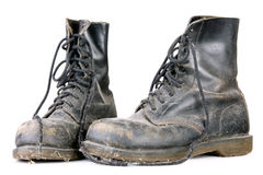 Old dirty shoes Stock Image
