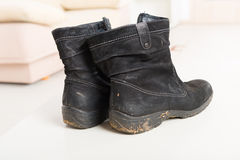 Old dirty shoes Royalty Free Stock Photo