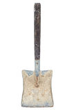 Old dirty shovel isolated on a white background Stock Photos