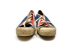 Old dirty sneakers Stock Photos