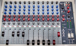 Mixer pult Stock Photography