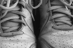 Old dirty sport shoes Stock Image