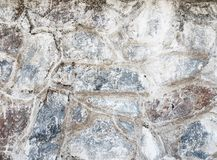 Old dirty stone wall. Royalty Free Stock Image