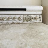 Old dirty stove. Stock Photos
