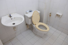 Old dirty toilet Stock Photo