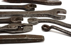 Old dirty tools Royalty Free Stock Images