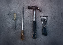 Old dirty tools Royalty Free Stock Image