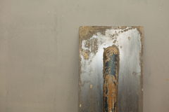 Old dirty trowel on rough concrete surface Stock Photography
