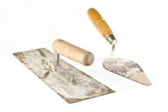 Old dirty trowels Royalty Free Stock Photo