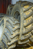 Old dirty tyres Stock Photography