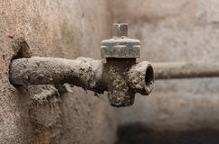 Old and dirty water tap Royalty Free Stock Photography