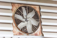 Old dirty ventilation fan Royalty Free Stock Image