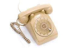 Old and dirty vintage telephone Stock Images