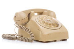Old and dirty vintage telephone Stock Photos