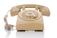 Old and dirty vintage telephone Royalty Free Stock Image