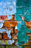 Old dirty wall. Texture - old dirty wall covered with peeling paint stock photos