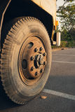 Old dirty wheels Royalty Free Stock Photography