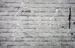 Old dirty white brick wall texture Stock Images