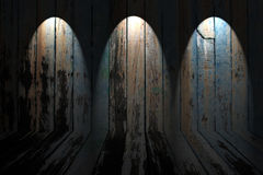 Old dirty wooden wall Stock Photography