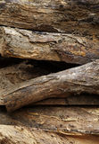 Old and dirty woodpile Royalty Free Stock Images