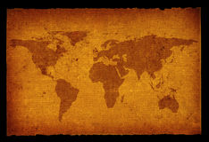 Old dirty world map Stock Photography